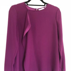 NWOT Ted Baker Purple Ruffle Top - Small